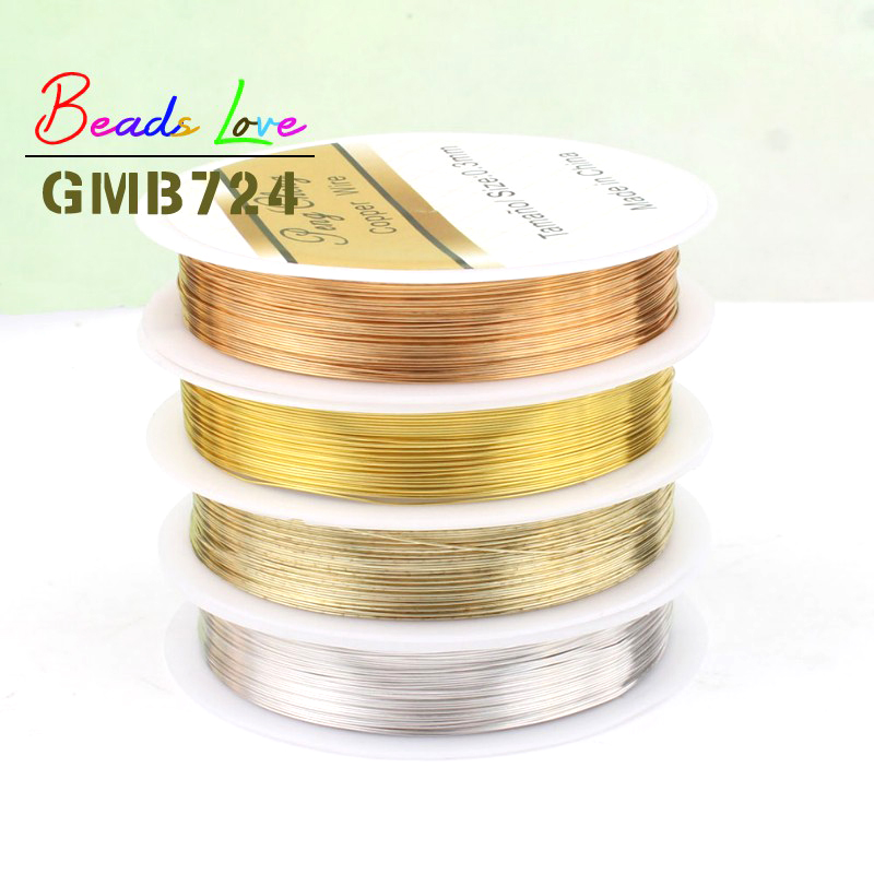 Long-lasting Fixed Color A+++ Copper Wire 0.3/0.4/0.5/0.6mm 4/Color Bead Cord DIY For Jewelry Making Bracelet No Discoloration