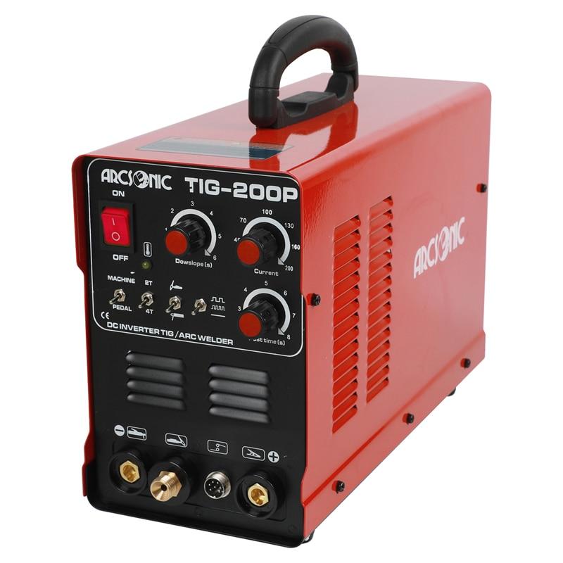TIG Welding Machine TIG200P 200 Amps ARC Pulse Multi Function Portable Inverter TIG Welder Argon Welding