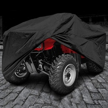 Waterproof ATV Cover Portable Protective Cover Motorcycle Large Heavy Duty Black Protects 4 Wheeler From Snow Rain Or Sun