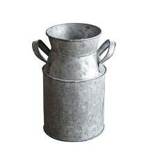 Bucket-Craft Galvanized Balcony Garden Home-Decor Milk-Can-Holder Flower Desktop Rustic