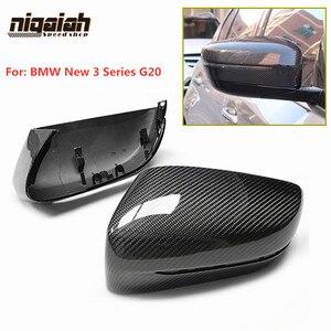 G20 Крышка для зеркала из углеродного волокна для BMW Новинка 3 серии G20 320d 330i 340i 2019 1:1 оригинальная запасная Автомобильная боковая зеркальная к...