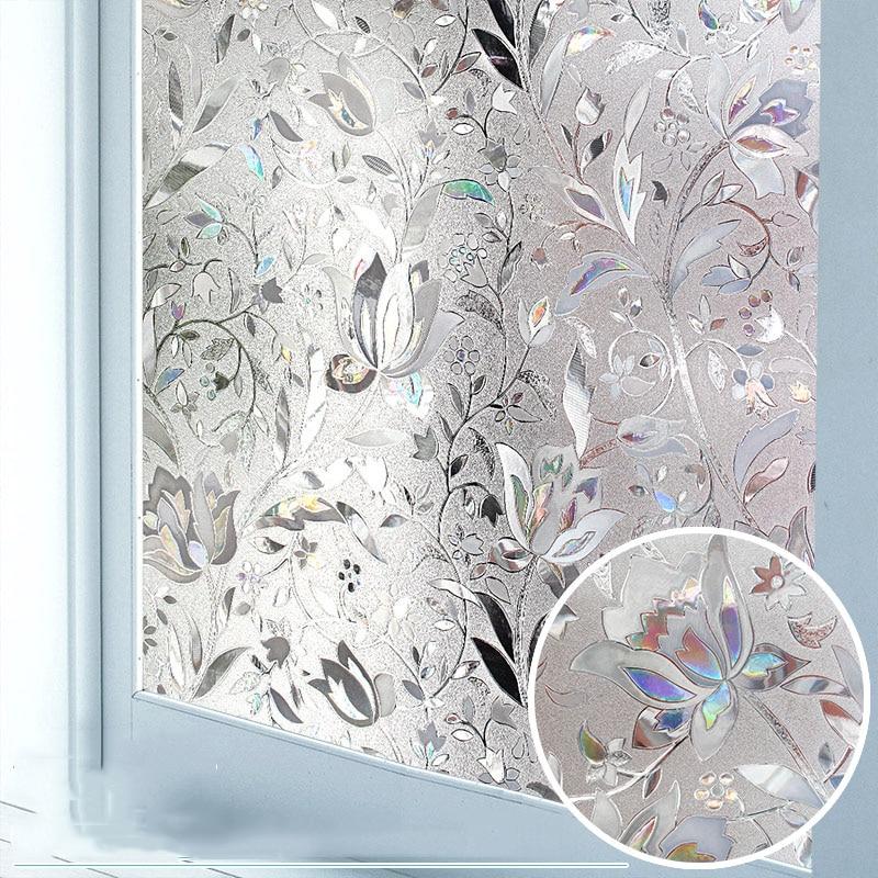 Privacy Window Film 3D Static Decoration Self Adhesive Film for UV Blocking Heat Control Glass Window Stickers 1