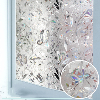 LUCKYYJ Privacy Window Film 3D Static Decoration Self Adhesive Film for UV Blocking Heat Control Glass Window Stickers luckyyj window tint for home one way glass window film privacy anti uv heat control reflective self adhesive window stickers