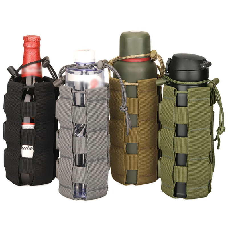 Tactical Molle Water Bottle Pouch Bag Military Outdoor Travel Hiking Drawstring Water Bottle Holder Kettle Carrier Bag More Discounts Surprises