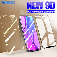 9D protección completa de vidrio para Xiaomi Mi 9 SE A3 Lite templado Protector de pantalla Redmi 8A 9A 9C NFC Nota 8 9 Pro Max 8T 9T 9 de vidrio