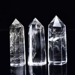 Natural Clear Quartz Crystal Point Meditation Reiki Healing Lemurian Stick Ornaments Home Decor Gift