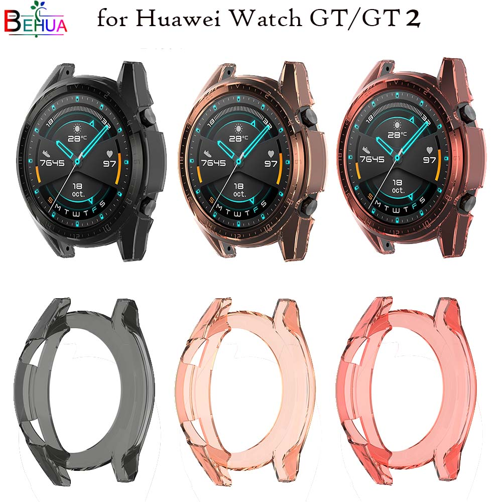 clear Protective TPU Case Cover for Huawei Watch GT/GT 2 42MM /46mm Smartwatch Sport Watch Case Slim Replacement Full Protector