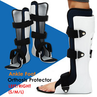 Adjustable Ankle Support Orthosis Left Right Joint Foot Fracture Protector Orthosis Fractures Brace Ankle Leg Stabilizer S/M/L