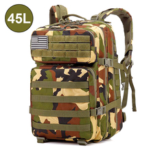 лучшая цена Men's Military Tactical Backpack Waterproof Shoulder Camping Camouflage Bag Hunting Backpack Utility Hiking Sports Climbing Bag