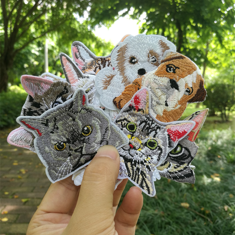 Badge Embroidered Patch Cloth Stickers Back Rubber Chapter Clothes Accessories Cute Cat Dog Clothes Decorative Hat Armband Chest