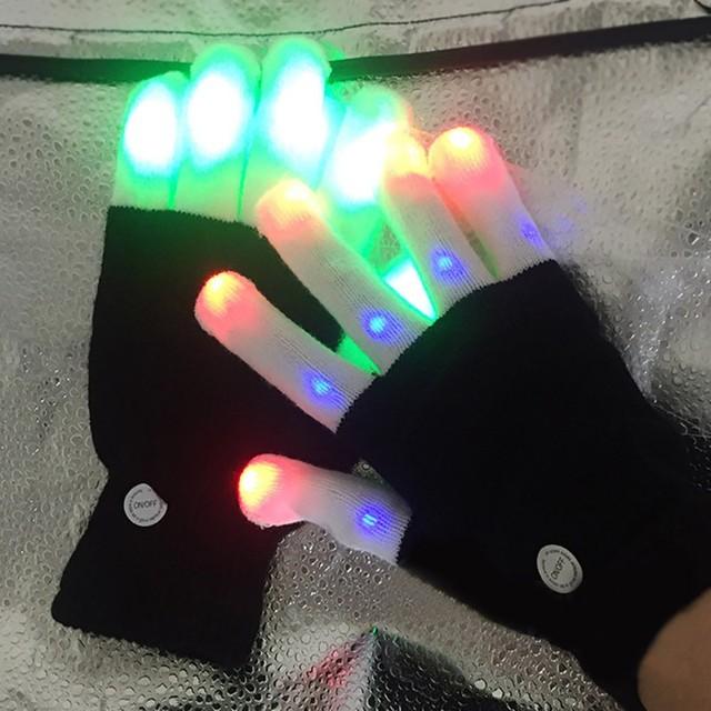 LED clignotant gants lueur éclairer doigt éclairage gants de danse de noël fête Rave Festival Cosplay Gloves13