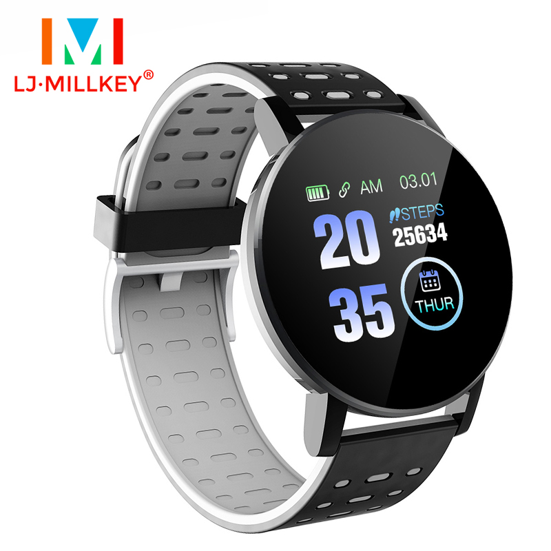 Smart Watches Waterproof Heart Rate Monitor Fitness Tracker Informaition Reminder Women Bracelet Men Smartwatch