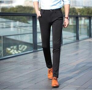 Image 5 - Pantalones largos informales a la moda de primavera y otoño 2020 para hombre, pantalones elásticos rectos formales para hombre, tallas grandes 28 40