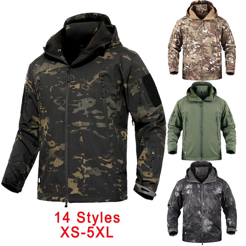 Outdoor Windbreaker Fishing Clothing For Men Autumn Winter Waterproof Warm Fishing Jackets Hooded Mountaineering Hunting Suits