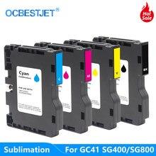 Cartouche d'encre à Sublimation pour imprimante à jet d'encre, GC41, pour scigrass SG400, SG800, pour Ricoh Aficio SG 3100SNW 3110DN 3110DNW 2100N 2100L