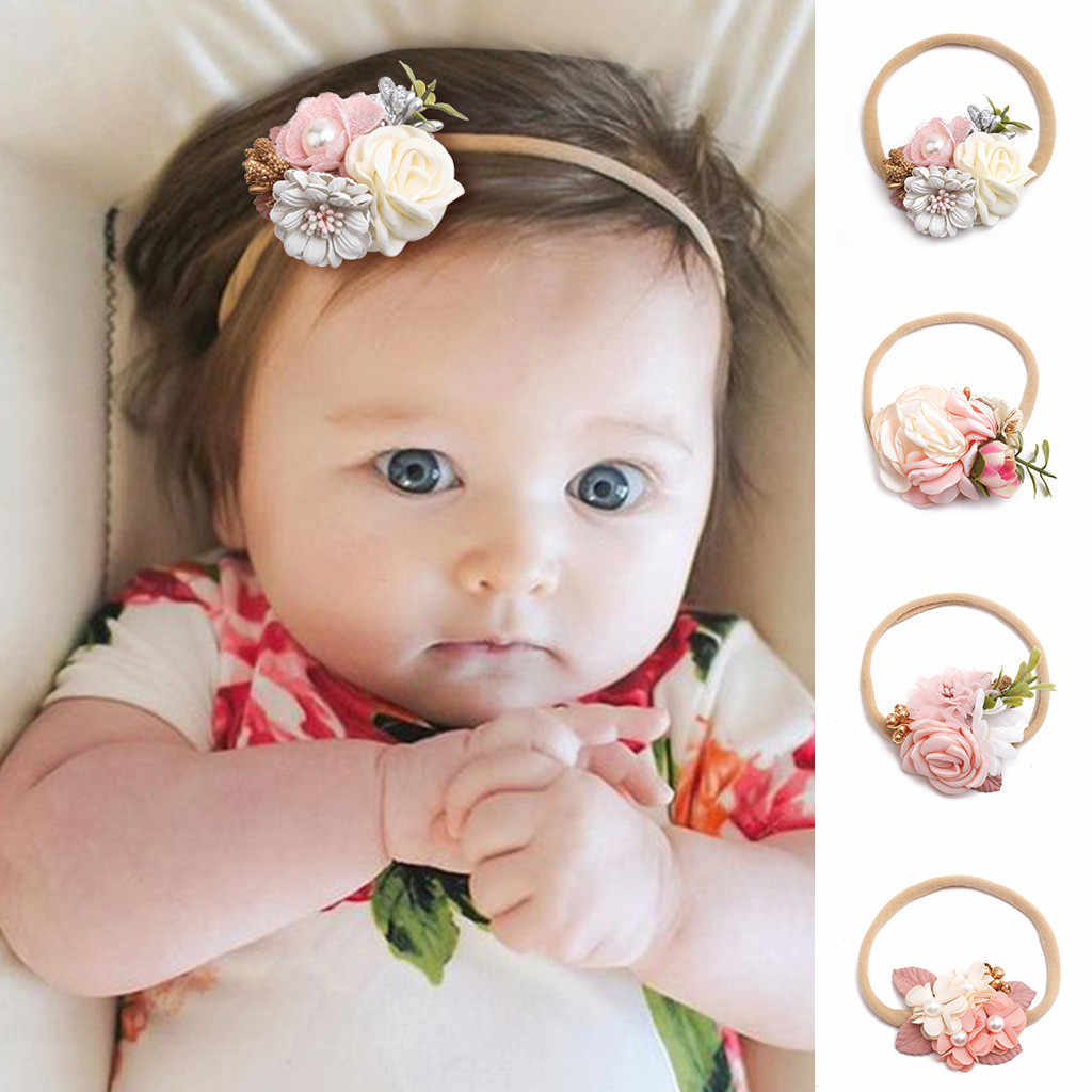 Kid Baby Girls Headband Infant Hair Floral Turban Headwear Headwrap Toddlers Bandage Flowers Newborn Kids Headband Accessories