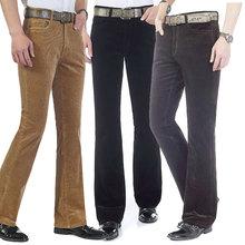 Men's Autumn New Men's Micro Horn Casual Pants Korean Elastic Slim Corduroy Casual Flare Pants More Sizes 27-38