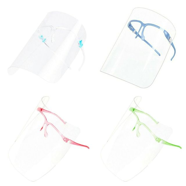 Full Face Covering Transparent Anti-saliva Dust-proof Shield Flip Up Visor Oil Fume Protection Masks protective Visor Shield 4