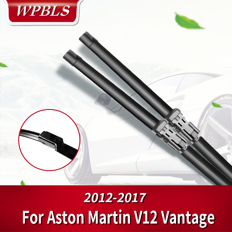 WPBLS Wiper Blades for ASTON MARTIN V12 Vantage Fit Push Button Arms 2012 2013 2014 2015 2016 2017