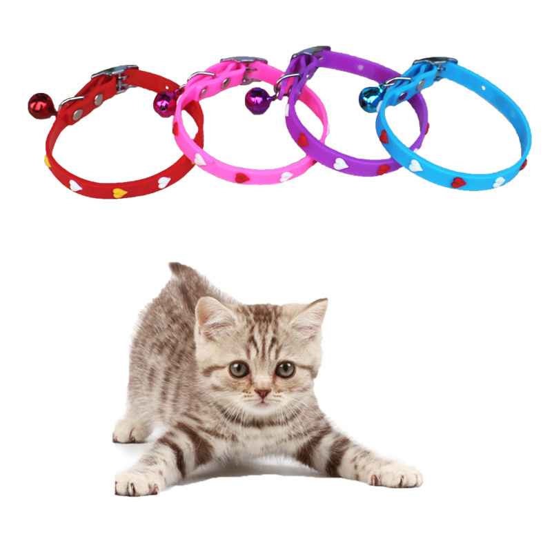 Pet Supplies Silicone Band Bell Cat Neck Ring Small Dogs Cat Multi-Pattern Dog Traction Belt Customizable