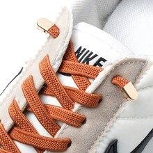 Lacets élastiques rapide sans nœuds à fermoir en métal pour chaussures, lacet plat pour baskets, chaussure de sécurité pour enfants ou adultes unisexes, 1 paire