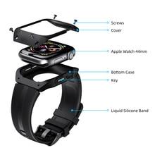 Силиконовый ТПУ чехол для часов Apple Watch Series 4 44 мм, полноразмерная Защита экрана для IWatch Series 4 44 мм, ремешок для часов