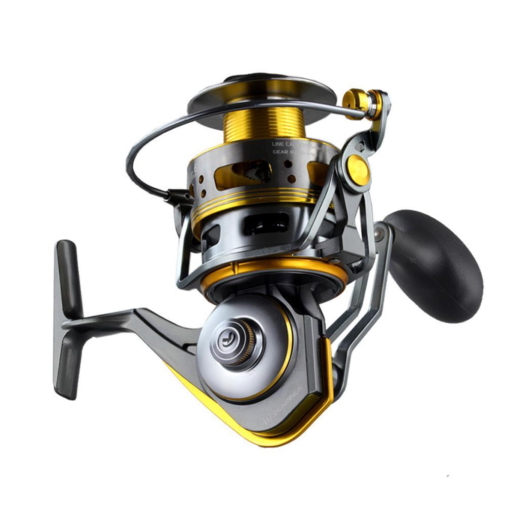 Fish Reel All-metal Fishing Spinning Wheel Gapless Rheel Long Shot