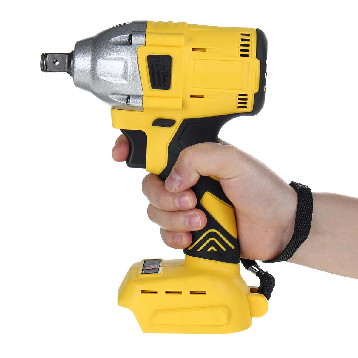 18V Rechargeable Electric Brushless Impact Wrench Cordless 1/2 Socket Wrench Power Tool Electric Impact Wrenches Without Battery