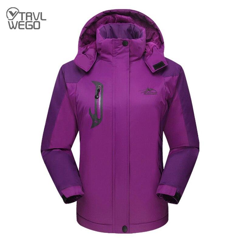 Лыжная куртка TRVLWEGO для мужчин и женщин, водонепроницаемое флисовое теплое пальто для активного отдыха, походов, горного туризма, сноуборда, ...