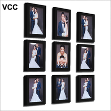 9 Pcs/Set Black Classic Photo Frame For Wall Hanging Wedding Couple Recommendation White Pictures Frames Home Decor