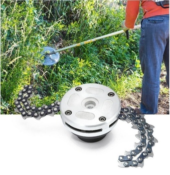 цена на Universal Trimmer Head Chain Brushcutter Garden Grass Trimmer with Thickening Chain for Lawn Mower Garden Tools Part