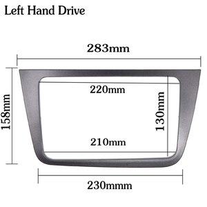 Image 3 - Podwójna DIN samochodowa ramka wykończeniowa radia dla SEAT Altea Toledo (LHD) lewa ręka stereo panel ramka zestaw do montażu na desce rozdzielczej adapter tapicerka Bezel facia