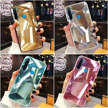 Перейти на Алиэкспресс и купить 3D Алмазный чехол для Xiaomi Redmi Note 8 Pro Note 9S Note 9 Pro Max Чехлы голографическая Призма Лазерная крышка для Xiaomi Poco M2 Pro