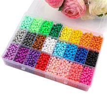 NEW 6000pcs 24 colors Refill Beads puzzle Crystal DIY water spray beads set ball games 3D handmade magic toys for children