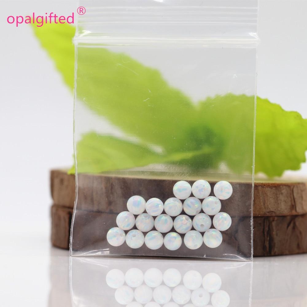 ¡En Stock! envío gratis fuego 5mm ópalo sintético, cuentas de ópalo colores azul y blanco-in cuentas from Joyería y accesorios    2