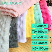 Sewbato 5 tamanhos minky dot tecido para costura roupas 31 cores super macio pelúcia tecido eco-amigável poliéster handwork