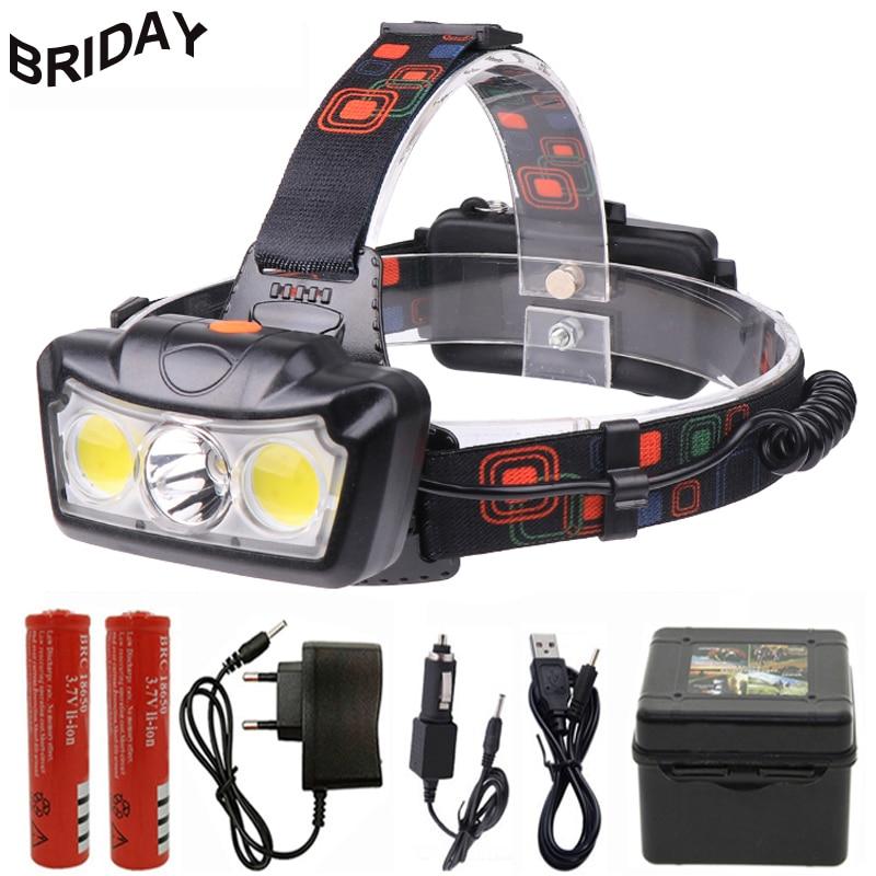 Super Brightness CREE LED Zoom Headlight Torch T6 Headlamp 18650 Head Light Lamp