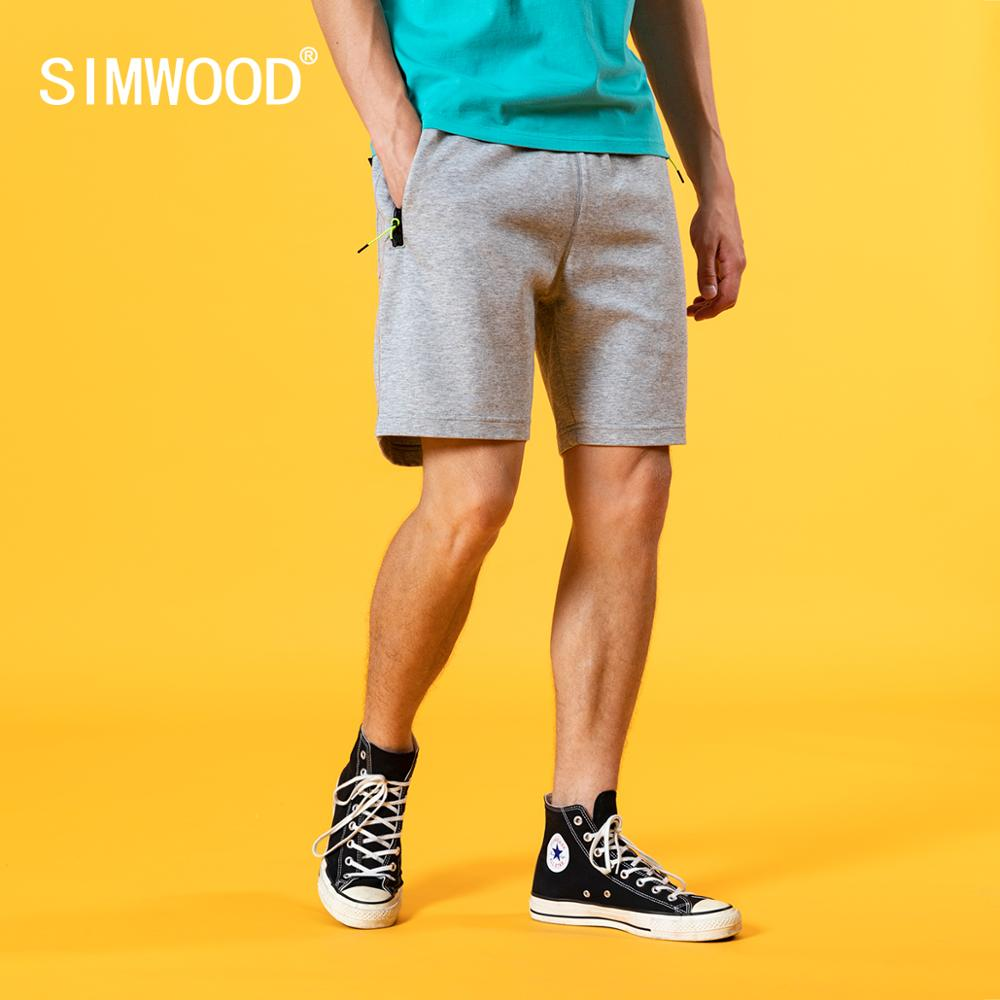 SIMWOOD 2020 Summer New Sportswear Shorts Men Cotton-Jersey Shorts Joggers Gyms Drawstring Comfortable Brand Clothing
