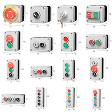 Button Switch Control Box Plastic Hand-held Self Starting Button Waterproof Box Electrical Industrial Emergency Stop Switch [vk] rafi emergency stop switch 1 30 074 281 0300 emergency stop button switch rafix 16 switch