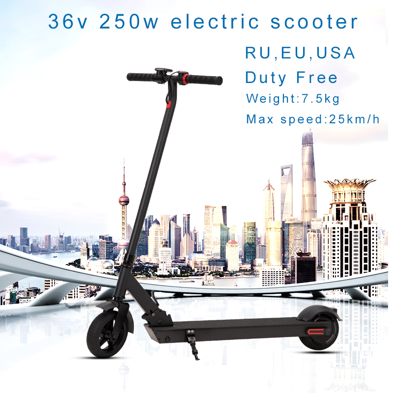25km/h <font><b>Electric</b></font> <font><b>Scooter</b></font> 36v <font><b>250w</b></font> E <font><b>Scooter</b></font> Skateboard Foldable Hoverboard Electrico Longboard Adult 20km Battery LCD display image