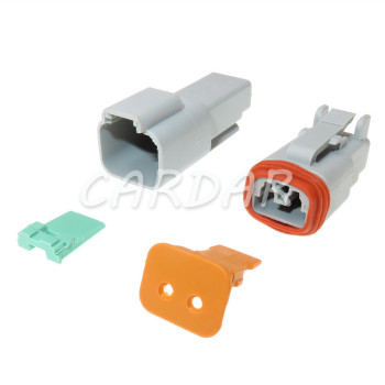 1 Set 2 Pin DT04-2P AT04-2P DT06-2S AT06-2S DT Series Waterprooof Auto Plug Car Connector For Deutsch image