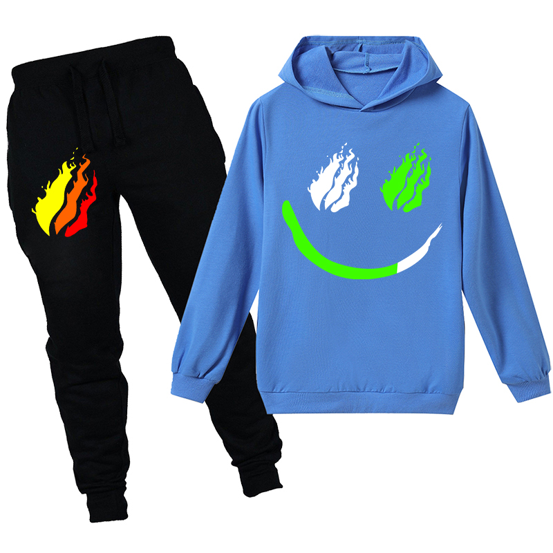 PRESTONPLAYZ Fashion Children Hoodies Pants 2pcs Sets Kids Clothes Boys Clothing Girls Sweatshirts Printed Preston Playz Tops