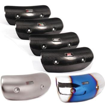 Tubo de escape para Moto, protección contra el calor, copia de carbono para Ak Yoshimura AR SC, Protector de cubierta de escape