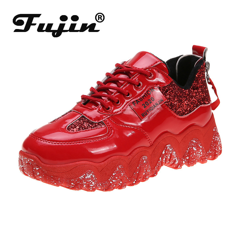 Fujin Women Sneakers High Low Top 2020 Designer Vulcanized Shoes Leather Pu Women Casual Shoes Platform For Women