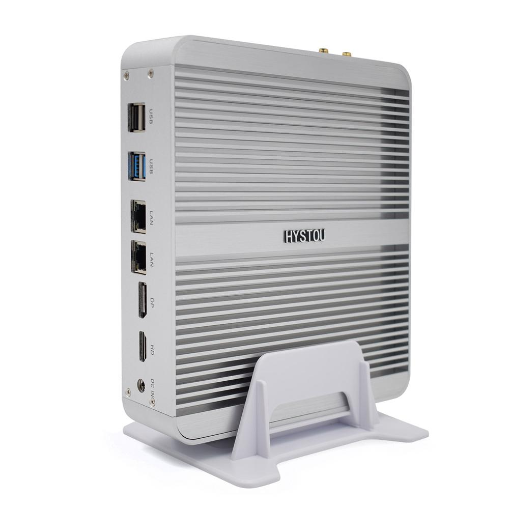 HYSTOU FMP03B Mini PC i5-7260U + 8GB + 128 GB/8 GB + 256GB Dual núcleos Win10 DDR4 Intel gráficos HD 640 de 3,4 GHz sin ventilador Mini PC de escritorio
