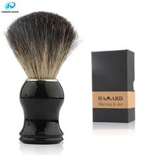 HAWARD Men's Shaving Brush 100% Pure Badger Hair Shaving Brush  Black Resin Handle  Beard Brush For Classic Traditional Shaving