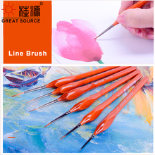 Line Brush Drawing Line Brush 1# - 6# Nylon Tip Watercolor Painting Brush (1 Set )