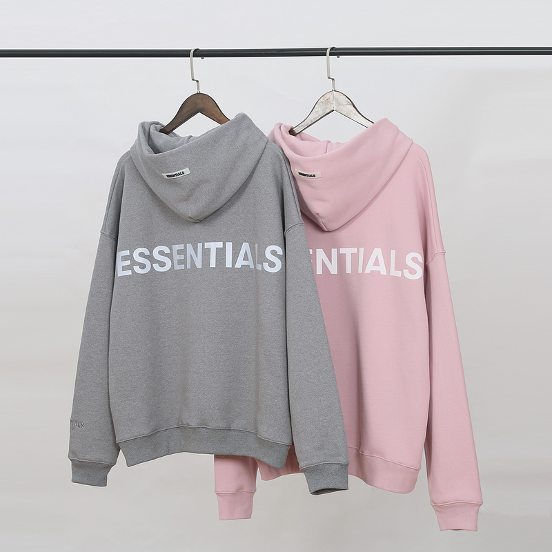 2019 Autumn Winter FG ESSENTIALS 3M Reflection Logo Printed Women Men Hoody Hoodies Hiphop Streetwear Men Casual Hoodie Pullover