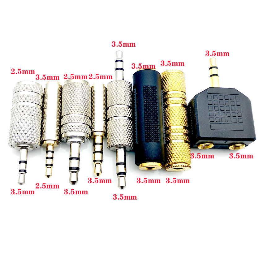 Jack 3.5 Mm To 2.5 Mm Audio Adapter 2.5mm Male To 3.5mm Female Plug Connector For Aux Speaker Cable Headphone Jack 3.5