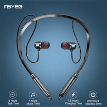 FBYEG Wireless Bluetooth Earphone Stereo Headphones Sport Bluetooth Headset Earbuds Magnetic Earpiece with Microphone for phone